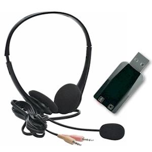 Standaard stereo headset voor Dragon spraakherkenning - USB