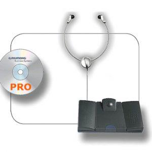 Grundig Digta Transcription Kit PRO - Uitwerkset met voetpedaal en hoofdtelefoon + Digtasoft PRO software