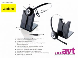 TIP! Jabra Pro 930 Luxe draadloze USB headset (DECT technology)