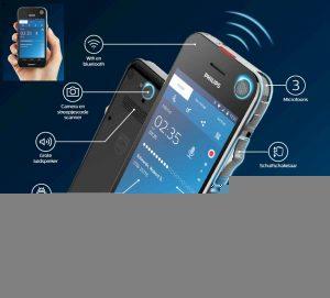 NIEUW Philips SpeechAir - Smart Dicteerapparaat PSP1100 - Met WiFi en Android OS