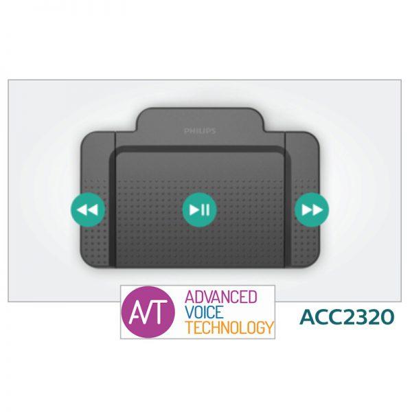 Philips ACC2320 Transcriptie voetschakelaar met 4 schakelaars