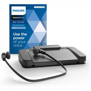 Philips TranscriptieSet LFH7177 -voetschakelaar en secretariele headset en SpeechExec Transcribe software versie 11