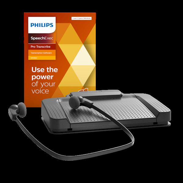 Philips TranscriptieSet LFH7277 met SpeechExec Pro Transcribe versie 11 software (met netwerk ondersteuning)