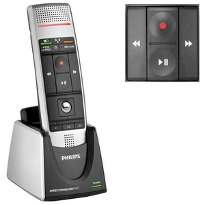Philips SpeechMike Air Pro draadloze dicteermicrofoon met drukknop - LFH3000
