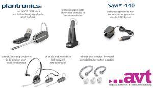 Plantronics Savi W440 draadloze USB headset (DECT technology)