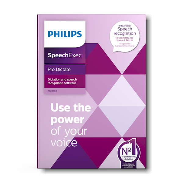 PSE4400 Philips SpeechExec Pro Dictate inclusief Nuance spraakherkenning
