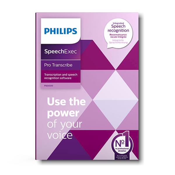 PSE4500 Philips SpeechExec Pro Transcribe inclusief Nuance spraakherkenning