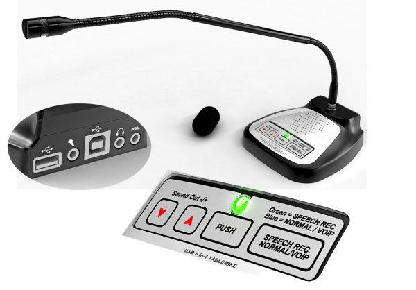 SpeechWare 6-in-1 TableMike - de beste tafelmicrofoons voor Dragon spraakherkenning