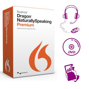 Dragon 13 Premium met Philips Recorder, USB-headset en DVD