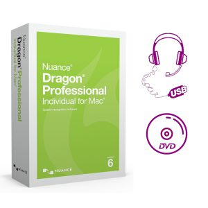 Dragon Individual for Mac 6 met USB headset en installatie-DVD