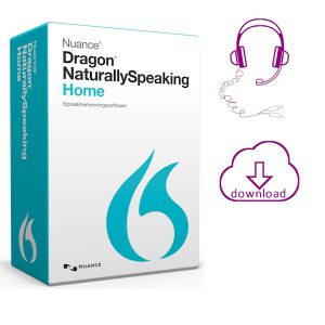 Dragon NaturallySpeaking 13 Home doos van de versie met analoge headset en elektronische download