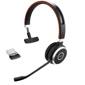 Jabra Evolve 65 mono Bluetooth headset met micro USB-adapter