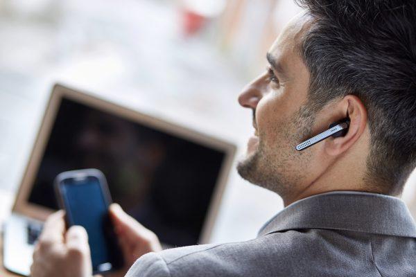 Jabra Stealth Bluetooth in-ear-headset.