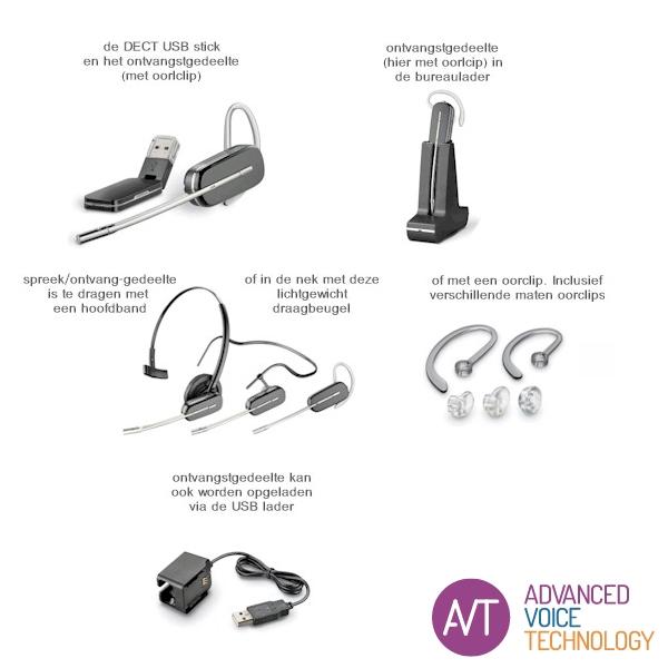 Plantronics Savi W440 DECT-headset -totaaloverzicht