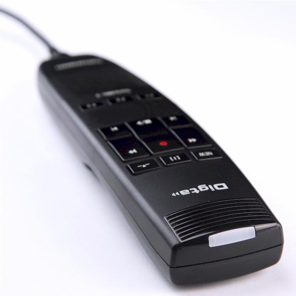Grundig DigtaSonic Mic-3 handmicrofoon - met opname indicator aan de bovenkant.