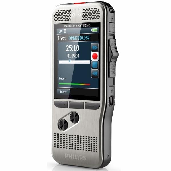 Philips PocketMemo recorder DPM7000/DPM7200 met schuifschakelaar en hoge opnamekwaliteit