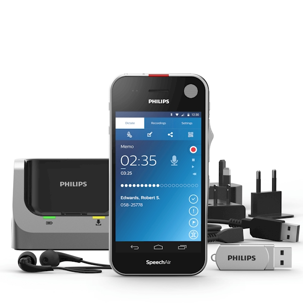 Philips-Speech-Air-Android-Dicteer-recorder-psp1100-wat-zit-in-de-doos