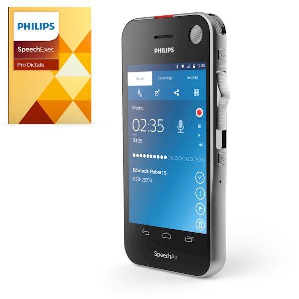 Philips Speech Air Dicteer recorder PSP1200 met SpeechExec Pro
