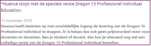 Nuance stopt met levering van de Dragon Individual Education