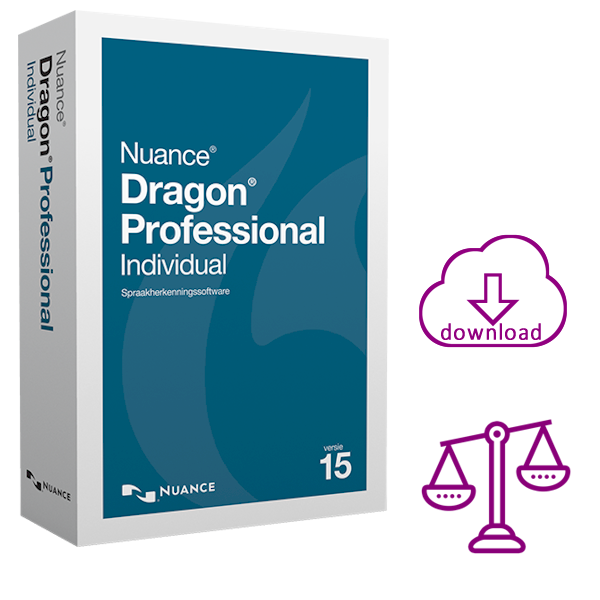 Dragon Professional 15 Individual Legal - Spraakherkenning voor advocaten & juristen