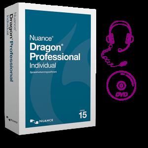 Dragon Professional Individual-15 met headset en DVD