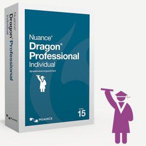Dragon Professional Individual 15 Education. De volledige Dragon Professional spraakherkenningssoftware zonder beperkingen en met een grote korting voor Leerlingen, Docenten en Studenten