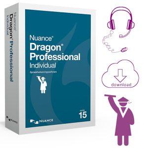 Dragon Professional Individual 15 Education. De volledige Nuance Dragon Professional 15 software met grote korting voor Leerlingen, Studenten en Docenten. Inclusief USB-headset
