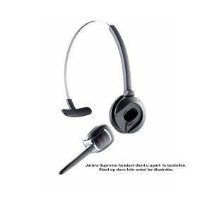 Hoofdband voor Jabra Supreme Bluetooth headset. Vindt u het fijner om de headset te dragen met een hoofdband dan met de standaard oorclip, dan kunt u de oorclip vervangen door deze hoofdband.