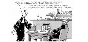 Cartoon-De-Rechter-ontdekt-Spraakherkenning-oplossingen-van-AVT