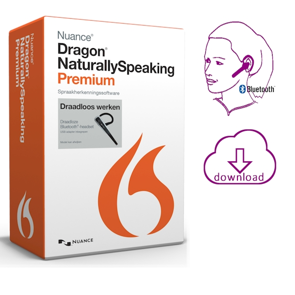 dragon naturallyspeaking 13 premium wireless bluetooth headset avt. Black Bedroom Furniture Sets. Home Design Ideas