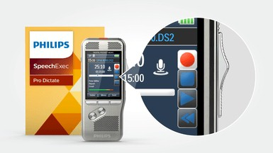 Philips-DPM8000-met-internationale-schuifschakelaar-en-speechexec-pro-dictate-software
