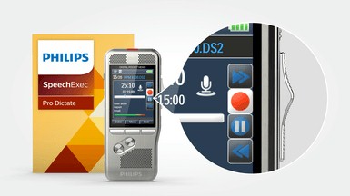 Philips-DPM8200-met-europeesche-schuifschakelaar-en-speechexec-pro-dictate-software