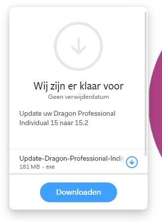 start-de-download-van-de-update-naar-Dragon-15-punt-2