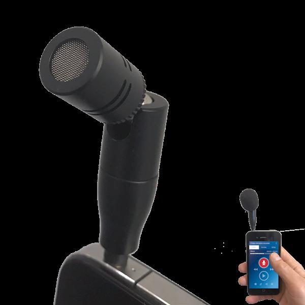 SpeechWare-TabletMike-met-iPhone-voor-nauwkeurig-opnemen-van-interviews-en-dictaten-closeup