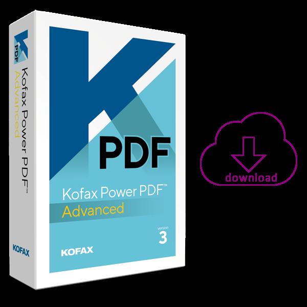 Kofax Power PDFAdvanced 3 PDF-software voor PDF's maken en bewerken kun je bestellen bij AVT