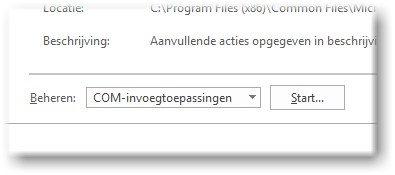 Activeren van een inactive Dragon invoegtoepassing office 2016
