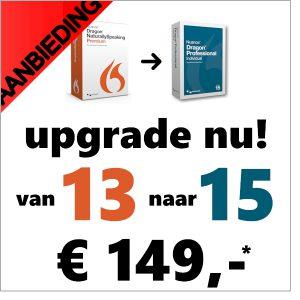 superaanbieding - upgrade nu uw Dragon van versie 13 naar versie 15