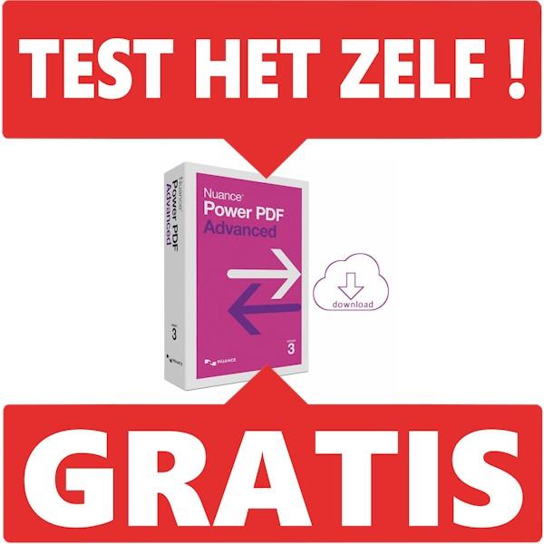 Test nu gratis de Nuance Power PDF Advanced uit. bij AVT op spraakherkenning.nl