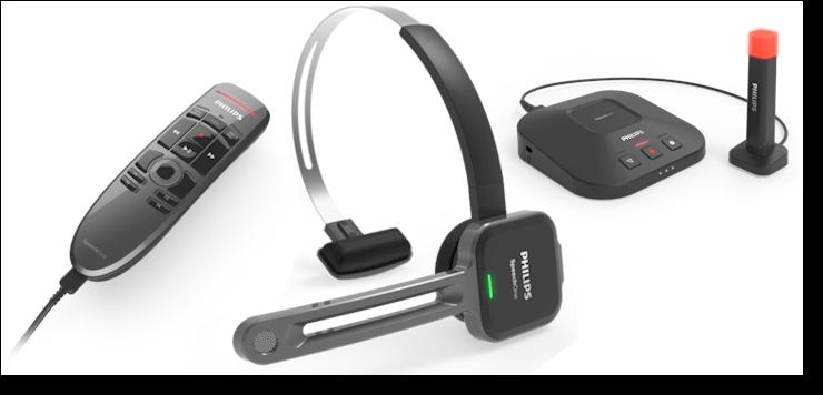 AVT Blog - NIEUW: Philips SpeechOne PSM6800 Dicteerheadset met basistation statuslampje afstandsbediening SpeechExec Pro dictate