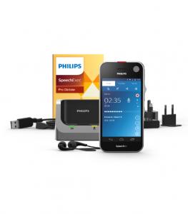 Philips Speech Air Dicteer recorder PSP2200 met SpeechExec Pro Dictate - Android besturingssysteem en Wifi - dicteer onderweg en verzend uw dictaten naar uw pc of assistent voor transcriptie