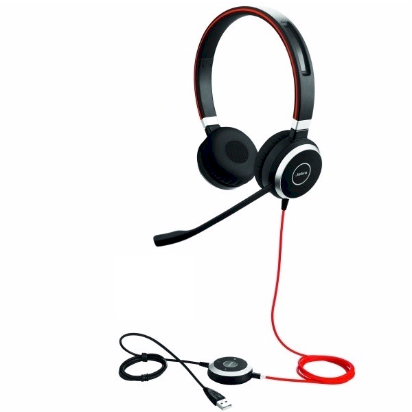 Jabra Evolve 40 USB stereo-headset met USB- en 3.5mm aansluiting voor Dragon spraakherkenning