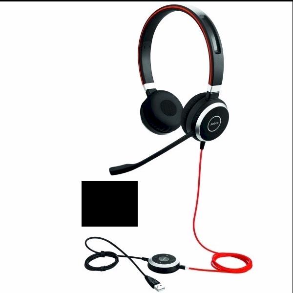 Jabra Evolve 40 USB stereo-headset met USB- en 3.5mm aansluiting voor Dragon spraakherkenning