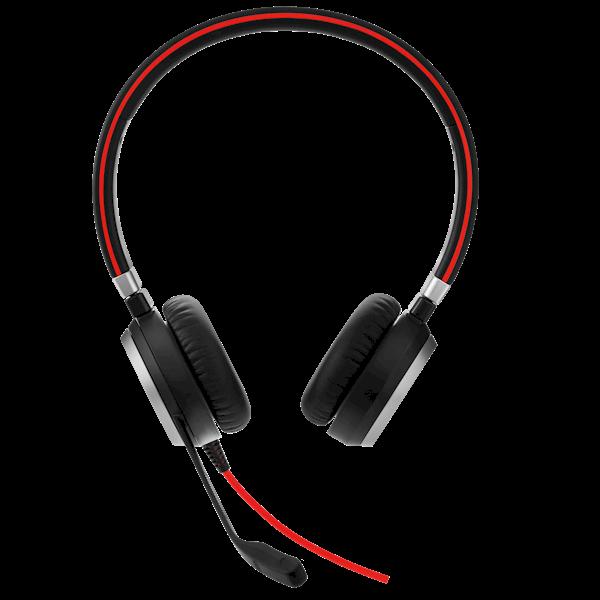 Jabra Evolve 40 USB stereo-headset met USB- en 3.5mm aansluiting en Noise Canelling functie voor Dragon spraakherkenning in rumoerige ruimtes
