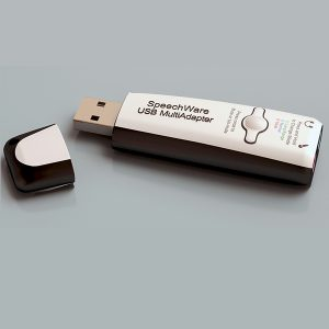 SpeechWare USB MultiAdapter voor super geluidsonderdrukking bij opnames