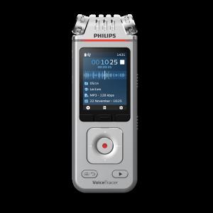 Philips VoiceTracer DVT4110 digitaal dicteerapparaat - voor het opnemen van dictaten, lezingen en interviews - vooraanzicht - Op voorraad bij AVT
