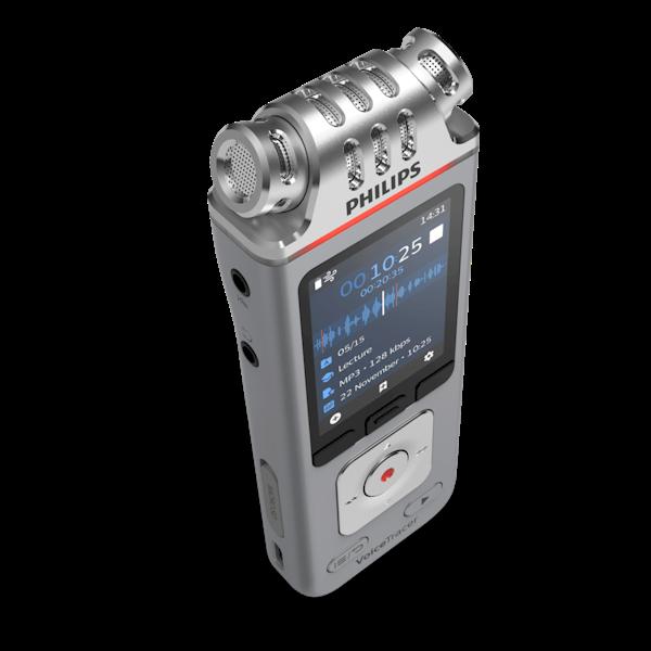 Philips VoiceTracer DVT4110 digitaal dicteerapparaat - voor het opnemen van dictaten, lezingen en interviews - bovenaanzicht - Op voorraad bij AVT