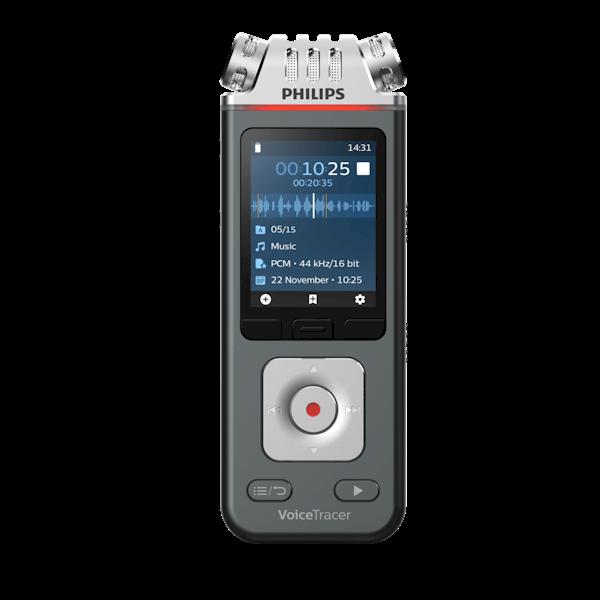 Philips VoiceTracer DVT6110 digitaal dicteerapparaat - vooraanzicht - Op voorraad bij AVT