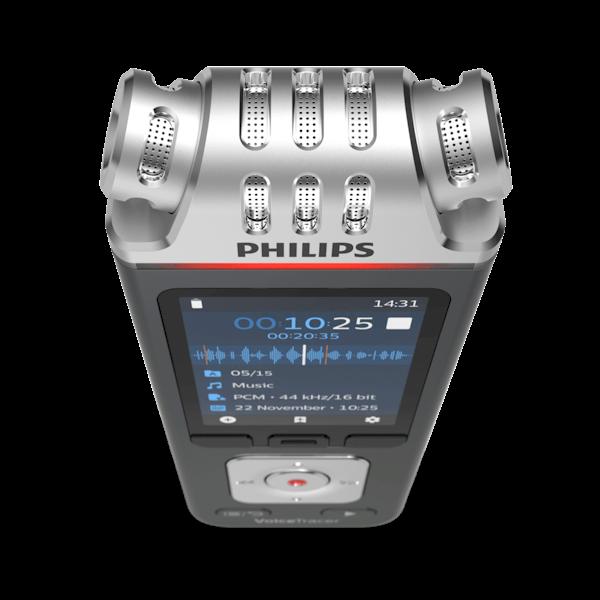 Philips VoiceTracer DVT6110 digitaal dicteerapparaat - bovenaanzicht - Op voorraad bij AVT
