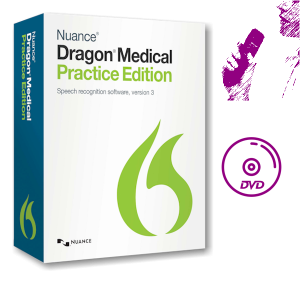 Dragon Medical Practice Edition 3 met Nuance PowerMic-3 dicteermicrofoon en DVD