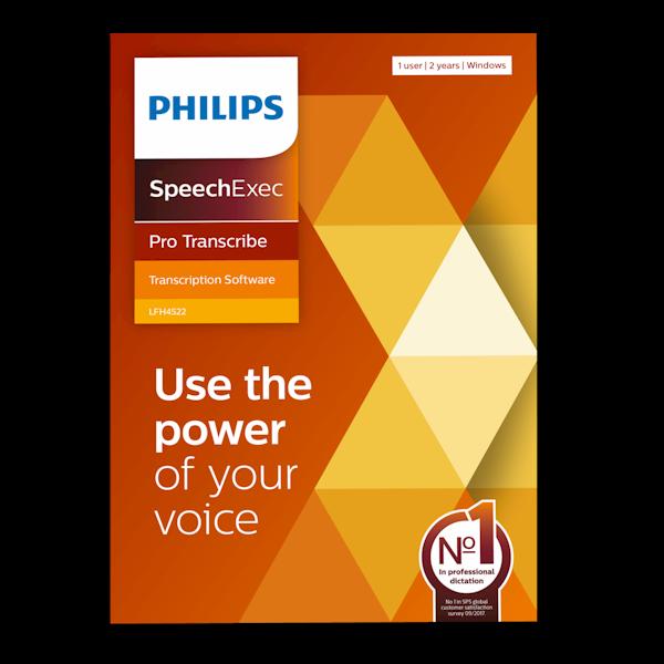 Philips LFH4522 SpeechExec Pro Transcribe v11 Transcriptiesoftware